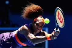 Serena Williams in action at the Australian Open. (Third Round)