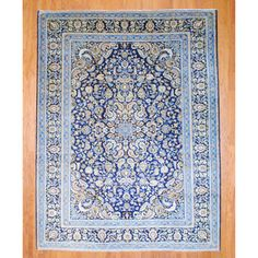 Shop for Persian Hand-knotted Isfahan Navy/ Ivory Wool Rug x Get free delivery On EVERYTHING* Overstock - Your Online Home Decor Store! Persian Pattern, Persian Blue, Carpet Decor, Lake Cottage, Cafe Interior, Persian Carpet, Online Home Decor Stores, Rugs In Living Room, Blue Gold