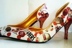 Create a Custom Order San Francisco 49ers Heel by ShOoDesigns, $45.00
