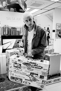 Rimowa aluminium suitcase