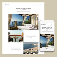 Responsive travel website from the ItSoEzi web builder lineup.
