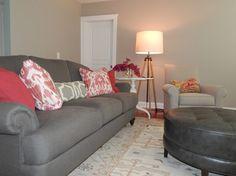 Ethan Allen Hyde Sofa With Custom Pillows