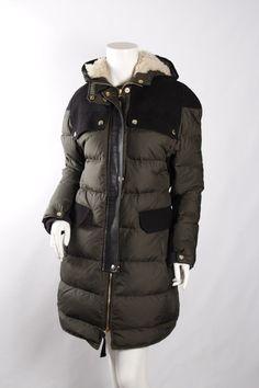 MARNI Black Leather Wool & Feather Filled Jacket Sz38
