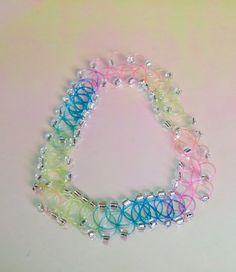 Pastel rainbow beaded tattoo choker