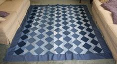 Recycled denim quilt, I love this one and it is really an easy pattern!