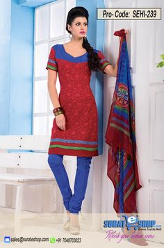 Maroon & Blue Salwar Kameez, Top:fabric amarican 2.00 mtrs, Bottom:fabric amarican 2.00 mtrs, Dupatta:fabric chiffon 2.25 mtrs   Visit: http://surateshop.com/product-details.php?cid=2_27_44&pid=11814&mid=0