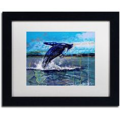 Trademark Fine Art Ocean King Canvas Art by Lowell S.V. Devin, White Matte, Black Frame, Size: 16 x 20