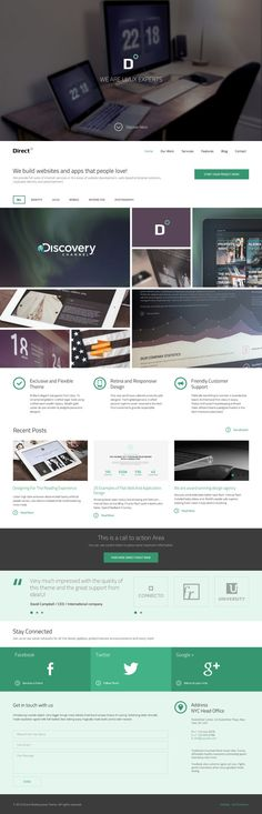 Direct Multipurpose PSD Theme on Web Design Served
