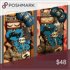 Blue black silver bling iPhone 6 plus case Handmade iPhone 6 plus case  www.etsy.com/shop/DivasOnFleek ! Get a beautiful bling or whipped cell phone case! YOU LIKE IT? GO AHEAD AND SPOIL YOURSELF! YOU DESERVE IT! DAZZLE YOUR PHONE WITH A BEAUTIFUL TREAT :) Accessories Phone Cases