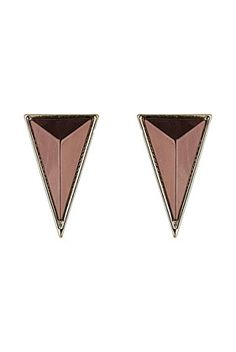 3D Triangle Stud Earrings - Topshop