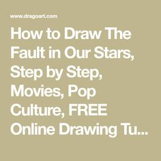 How to Draw The Fault in Our Stars, Step by Step, Movies, Pop Culture, FREE Online Drawing Tutorial, Added by Dawn, October 16, 2014, 11:22:51 pm