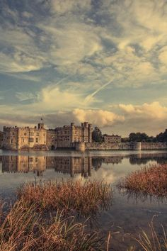 I love Leeds Castle, Kent. From the outside it truly looks like a castle should. Beautiful huge moat surrounding the castle and peacocks walking the grounds. Not far from Hever Castle, family home of Anne Boleyn. That is an absolute must see! Kent England, England And Scotland, Oh The Places You'll Go, Places To Travel, Places To Visit, Palaces, Downton Abbey, Wonderful Places, Beautiful Places
