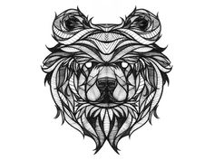 Bear Sketch Shots From Dribbble (idea for my brother's tattoo)
