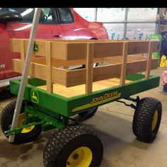 Home made John Deere wagon.