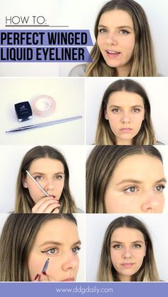 How to get perfectly winged liquid eyeliner: Beauty hack