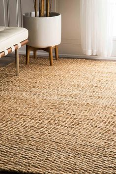 Shop for jute, sisal & seagrass area rugs, carpets, stair and hallway runners. Striped & bordered jute rugs with a unique texture Natural Area Rugs, Natural Rug, Living Room Trends, Living Room Designs, Room Rugs, Rugs In Living Room, Dining Rooms, Rattan, Carpet Trends