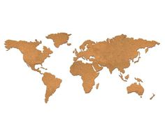 World Map Pin-up Board