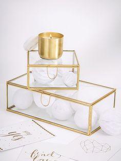 Boîte vitrine - Verre / doré - 3