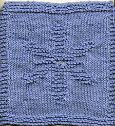 Free+Knitting+Pattern+-+Dishcloths+&+Washcloths+:+Snowflake+Dishcloth
