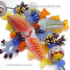 "ANASTASIA--lampwork beads--(11)--""CARIBBEAN""--SRA #Lampwork eBay…"