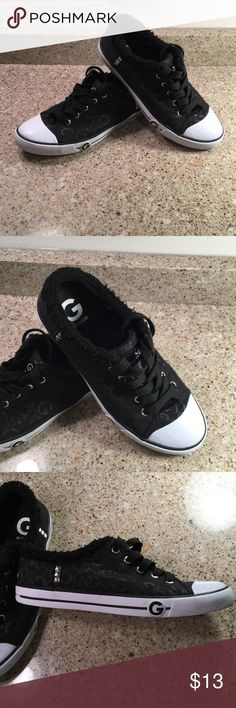 Guess Sneakers Guess Sneaker with 'G' Logo, gently used.  Size 9. Reasonable offers accepted. Bundle and Save 20%. G by Guess Shoes Sneakers