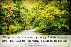 a journey into joy part 1 a short reflection to read by Roy Lessin worth your while to follow the link