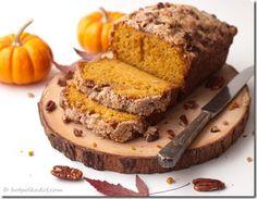 Maple Pecan Streusel Pumpkin Bread