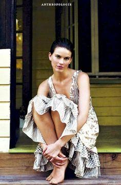 NEW Anthropologie Chan Luu ivory taupe Silk Mixed Print Tier Ruffle Midi Dress L #HoldingHorses #EmpireWaisttieredrufflehem #versatile