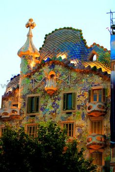 Gaudi | Casa Batillo, Barcelona, Spain. Built by Gaudi