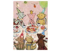 Teddy's Birthday, Pink, Single Card