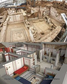 Reconstruction sketch of Terrace houses - Ephesus (Photo: virtualreconstruction). Ancient Egyptian Art, Ancient Rome, Ancient History, European History, Ancient Aliens, Ancient Greece, American History, Roman Architecture, Historical Architecture