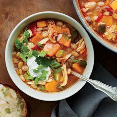 tex mex chili soup- Made for New Years Day 2014 Needed to use some CFA chicken strips, so substituted for roasted chicken.  Very tasty soup with a kick.  Def make again.