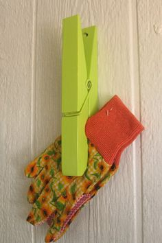 Shabby Chic Clothes Pin in Lime Green  /Wedding by happybdaytome, $14.00