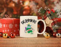 Funny Christmas Mug, Oh, Quarantree, 2020 pandemic gift mug, stocking stuffer holiday decor gifts, Christmas gift for moms, pandemic mug