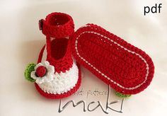 Ladybug ankle strap Crochet pattern Permission to by MakiCrochet