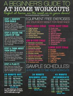 At home workout ideas for beginners - no equipment needed
