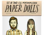 these are great!!! ONE personalized paper doll by jordan grace owens. $25.00, via Etsy.