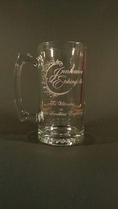 Our logo on an engraved beer mug, engraved it in house in the USA Engraved Beer Mugs, Logo, Usa, Glasses, Tableware, Eyewear, Logos, Eyeglasses, Dinnerware