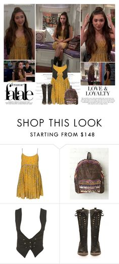 """""""Riley Matthews.   Girl Meets World."""" by sarahutcherson ❤ liked on Polyvore featuring Free People, Topshop and J Shoes"""