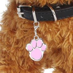 Dog Necklace Charm Paw Print Stainless Steel Pendant Tag Cute Accessory Cat Pet  #FoxyRoxyShop