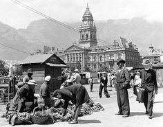 Herb sellers on the Parade, Old Photos, Vintage Photos, South African Artists, My Land, African History, Cape Town, World, City, Herb