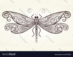 Find Vector Monochrome Dragonfly Unique Pattern stock images in HD and millions of other royalty-free stock photos, illustrations and vectors in the Shutterstock collection. Thousands of new, high-quality pictures added every day. Dragonfly Drawing, Dragonfly Art, Dragonfly Tattoo, Dragonfly Wallpaper, Dragonfly Illustration, Dragonfly Painting, Insect Tattoo, Butterfly Mandala, Butterfly Dragon