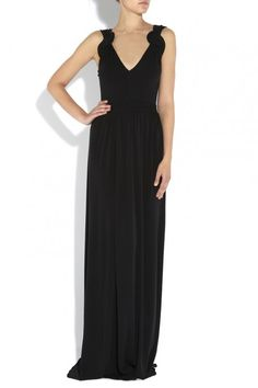 Issa Plait Strap Gown Black - stunning classic with a twist (no pun intended!) @issa domingo domingo
