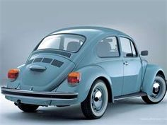 Classic Baby Blue VW Beetle - mine was a Super Beetle and I loved it!