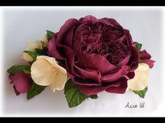 МК Пионовидная роза из корейского фоамирана.