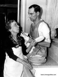 Buster Keaton and his mother, Myra