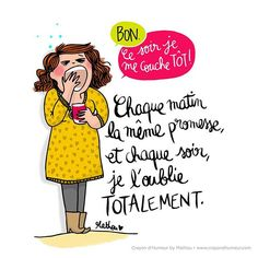 { SE COUCHER TÔT }  Chaque soir pour moi en ce moment !  Belle journée les bichons ❤🤘🏻  #mathou #illustration #secouchertôtdemain #humour #remix