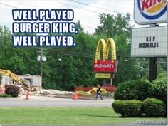 Well played, Burger King, well played.