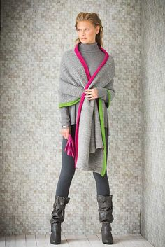 Ravelry: #8 Pull-Through Wrap pattern by Jacqueline van Dillen
