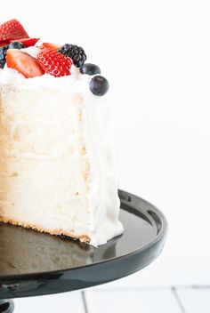 Angel food cake | Lilie Bakery Angel Cake, Angel Food Cake, Sweet Recipes, Cake Recipes, Chiffon Cake, Vanilla Cake, Biscuits, Bakery, Cheesecake